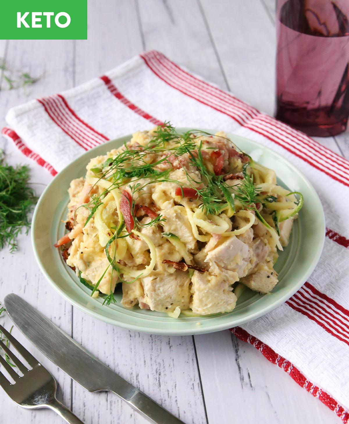 Keto Chicken Carbonara - Muscle Fuel