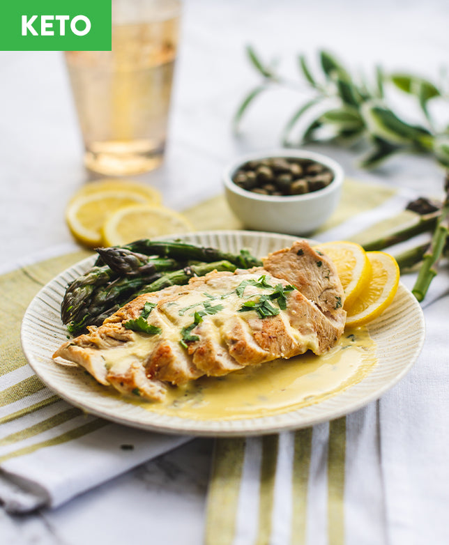 Keto Chicken with Lemon Herb Sauce