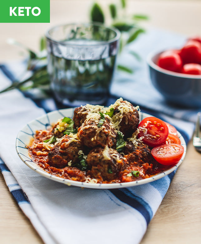 Keto Meatballs with Marinara Sauce - Muscle Fuel