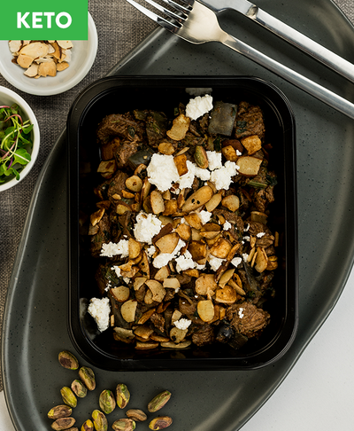 Keto Moroccan Beef with Feta & Almonds - Muscle Fuel