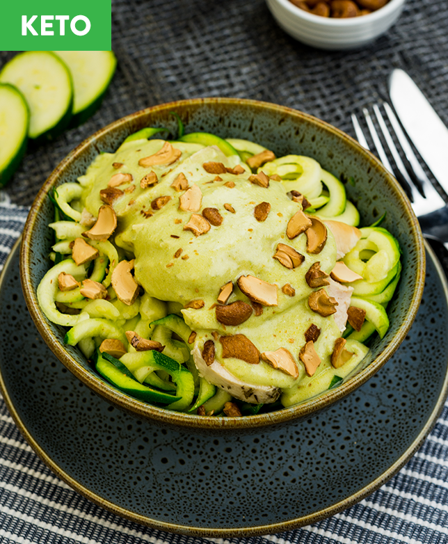 Keto Pesto Chicken & Zoodles - Muscle Fuel