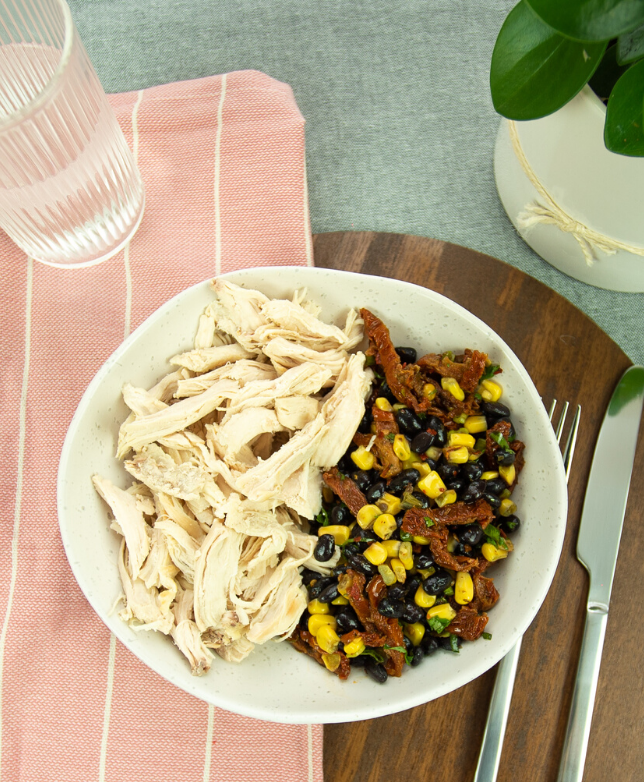 Get Fit Gringo Southwest Chicken with Blackbean Salad