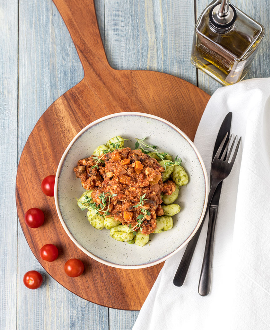 Quorn Bolognese with Gnocchi