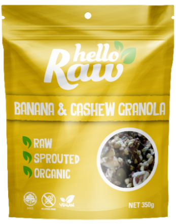 Hello Raw | Banana and Cashew Granola - Muscle Fuel