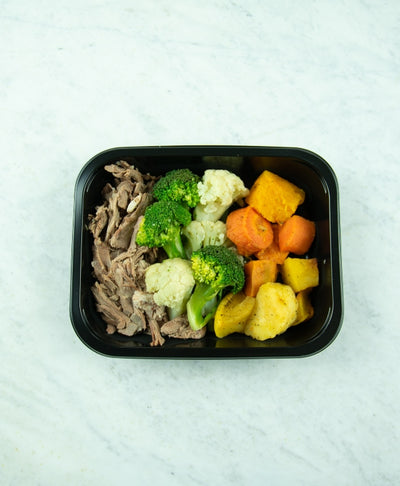 Pulled Lamb & Roast vegetables - Muscle Fuel