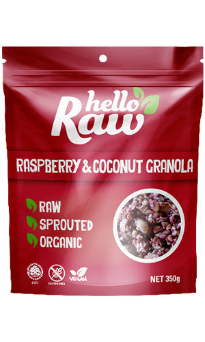 Hello Raw | Raspberry and Coconut Granola - Muscle Fuel