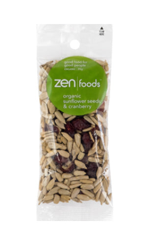 ZEN Foods Sunflower Seeds & Cranberry