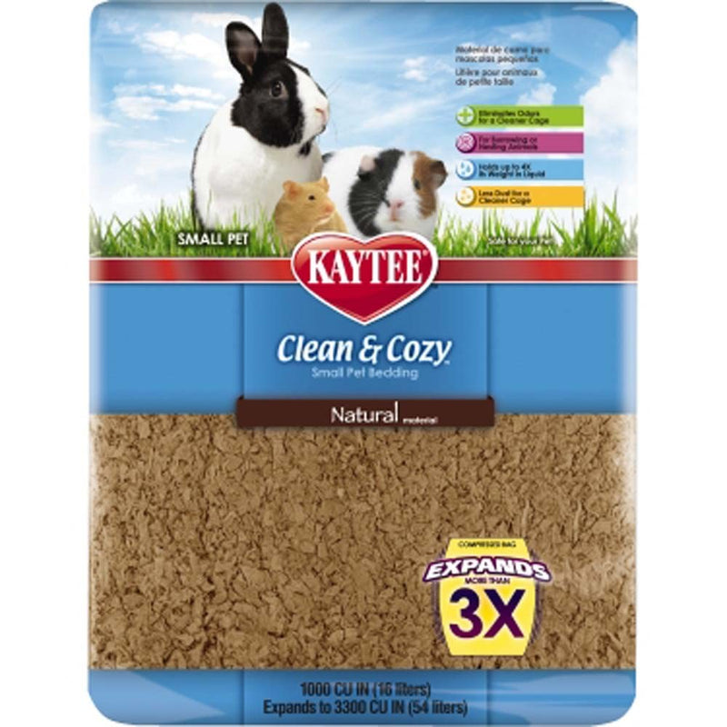 Kaytee Clean and Cozy Bedding Natural 3300 cubic inches