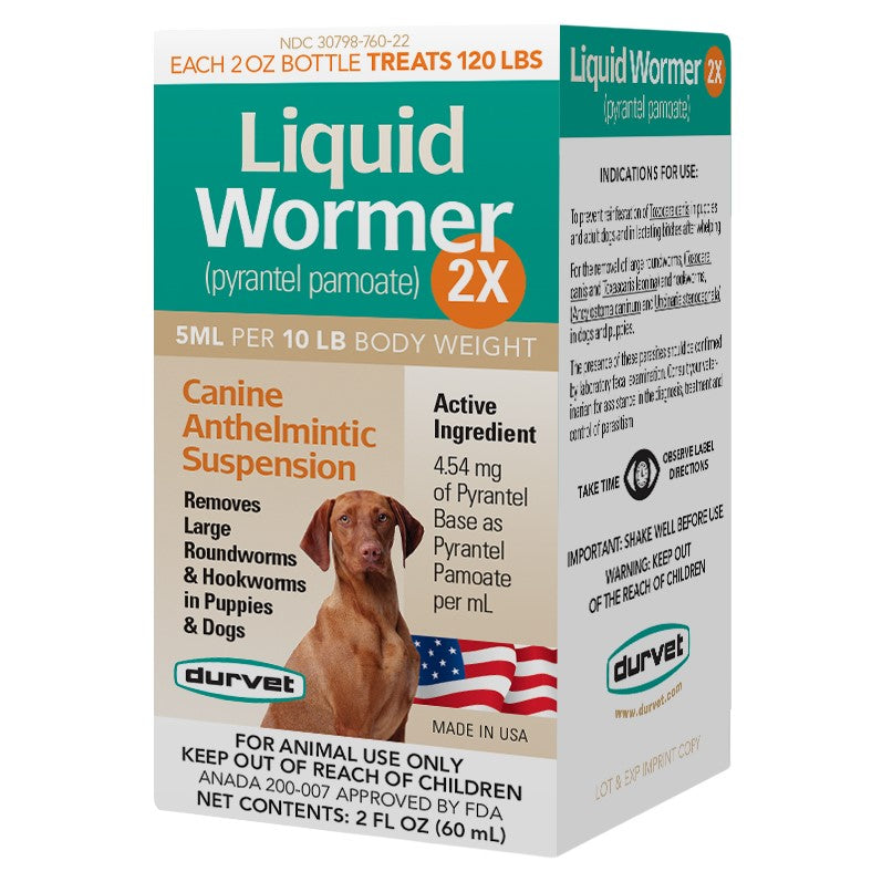 Liquid Wormer Dog 2x 2oz