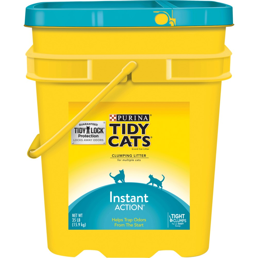 Tidy Cats Instant Action Clumping Cat Litter 35lb Pail