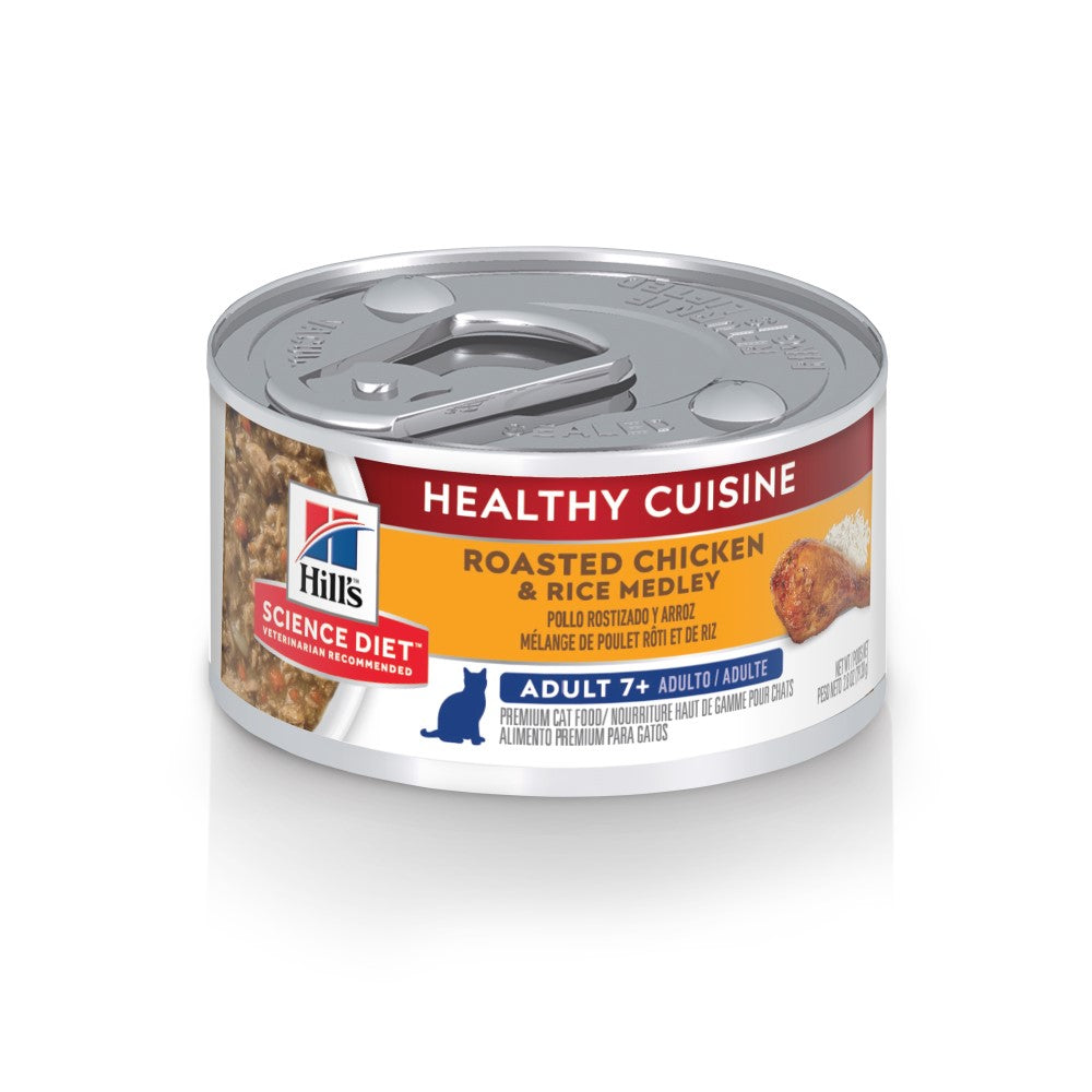 Science Diet Adult Cat 7+ Healthy Cuisine Roasted Chicken And Rice Medley 2.8oz