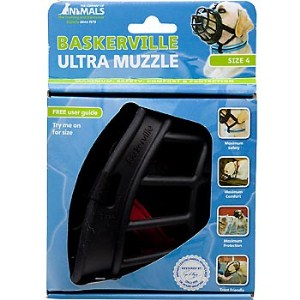 The Company of Animals Baskerville Ultra Muzzle for Dogs Dogs 40-65 lbs (Size 4)