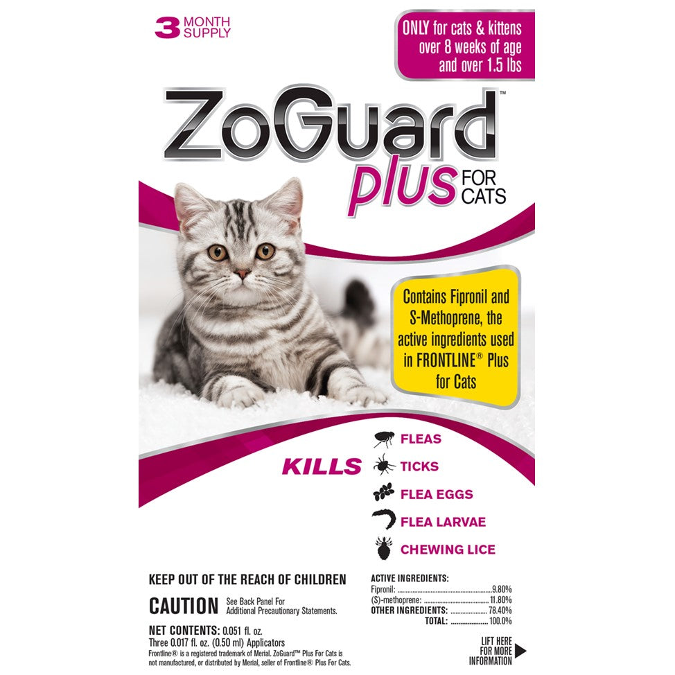 Promika ZoGuard Plus for Cats Above 1.5 lbs, 3 Month Supply