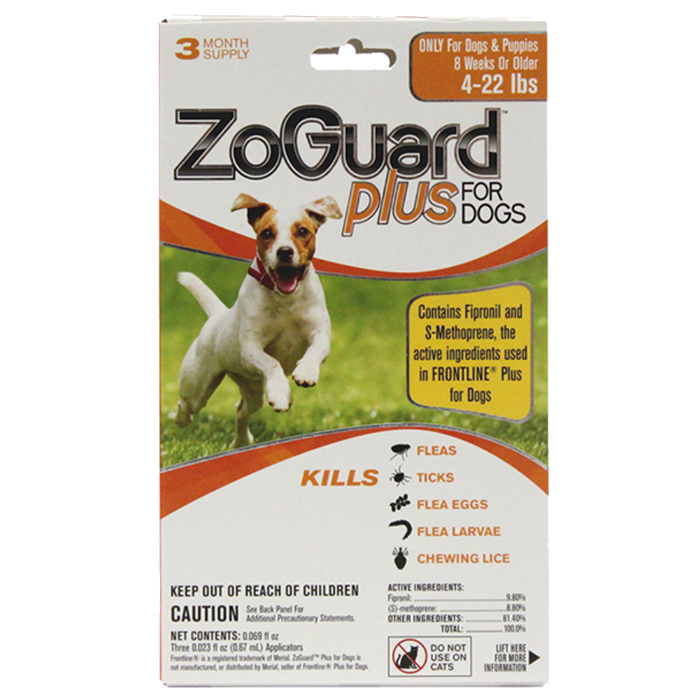 Promika ZoGuard Plus for Dogs 4-22 lbs, 3 Month Supply