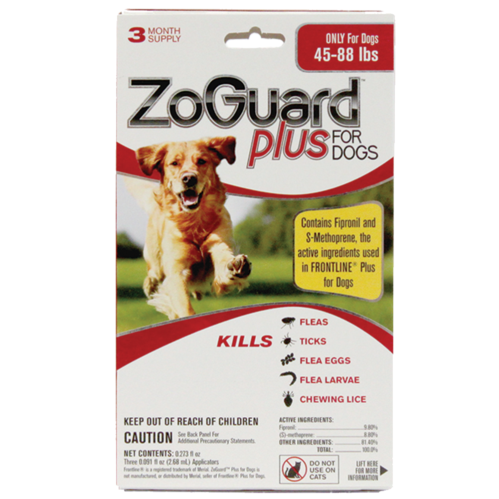 Promika ZoGuard Plus for Dogs 45-88 lbs, 3 Month Supply