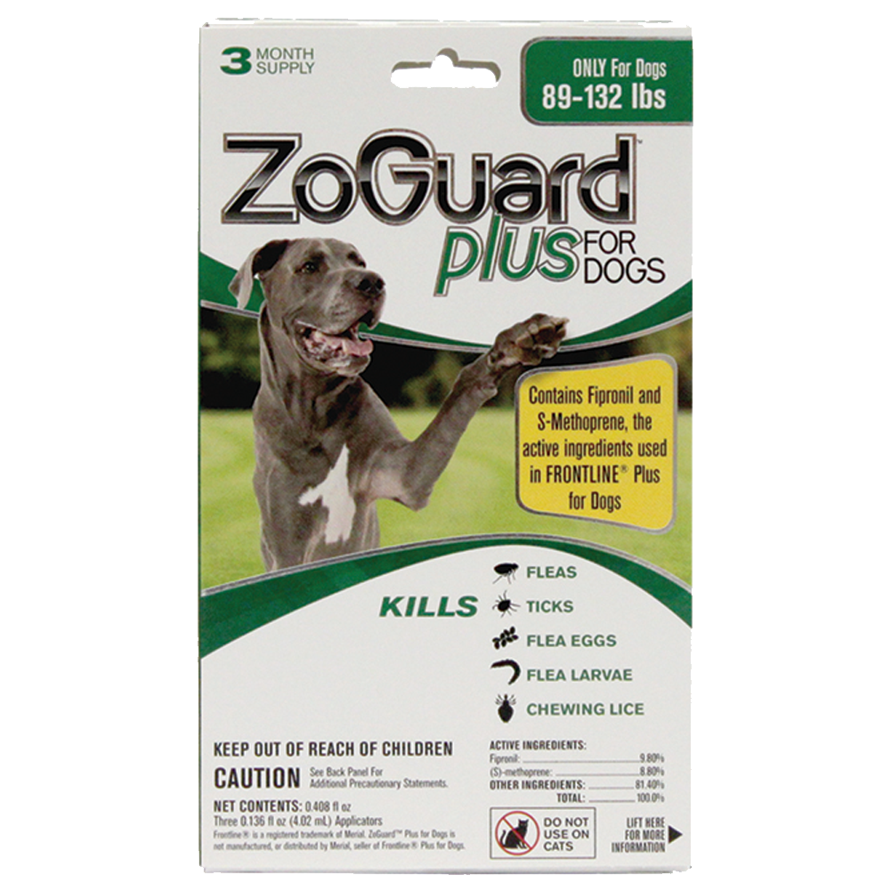 Promika ZoGuard Plus for Dogs 89-132 lbs, 3 Month Supply