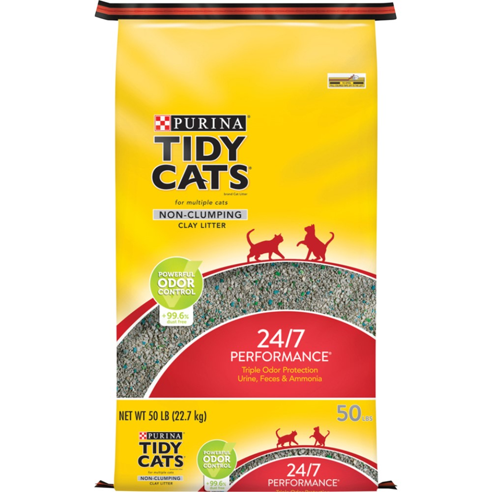 Tidy Cats Non-Clumping 24/7 Performance Cat Litter 50lb
