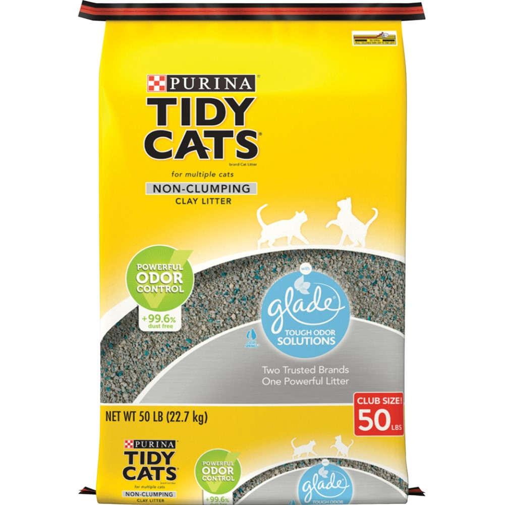 Tidy Cats Non-Clumping Glade® Tough Odor Solutions Cat Litter 50lb
