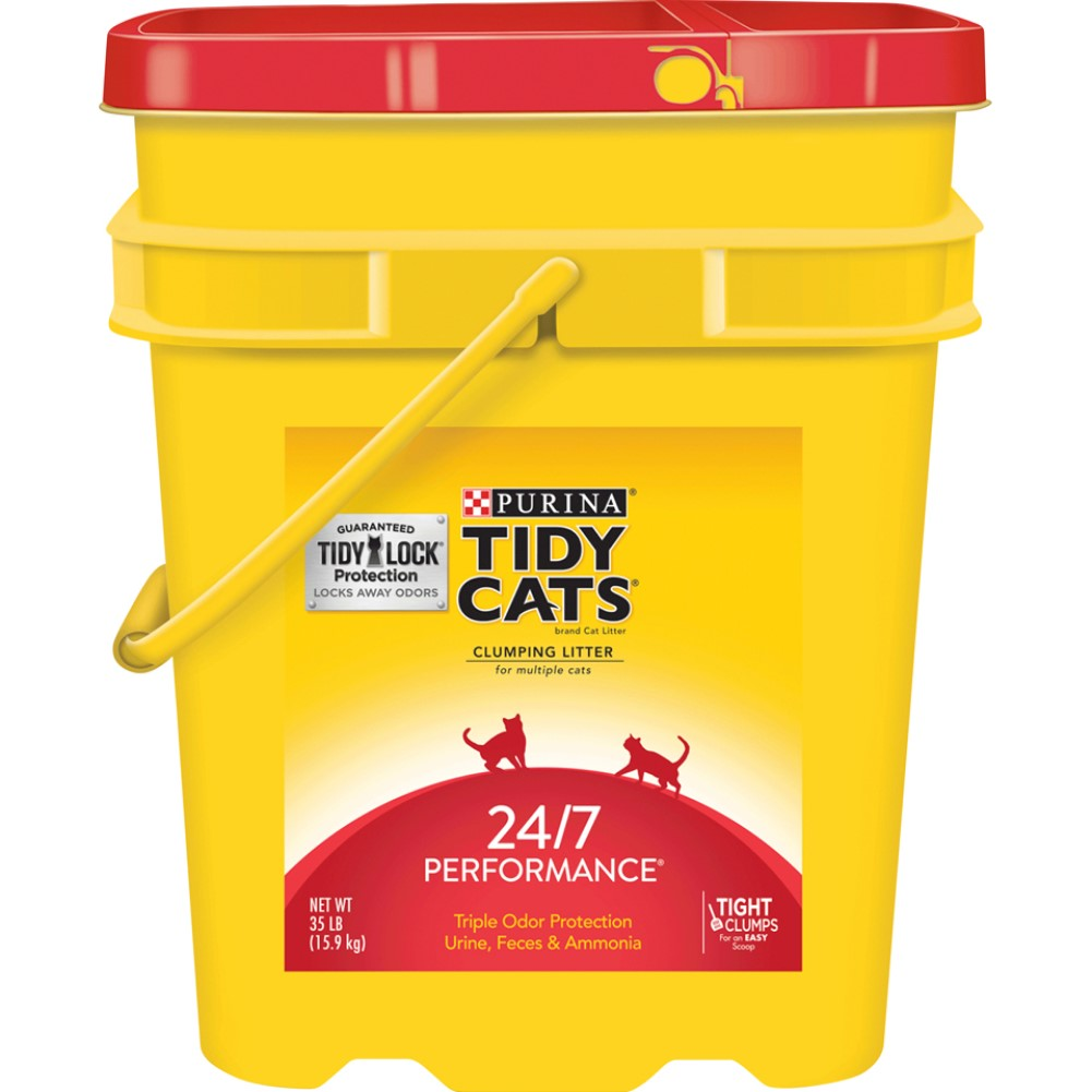 Tidy Cats Clumping 24/7 Performance Cat Litter 35lb Pail