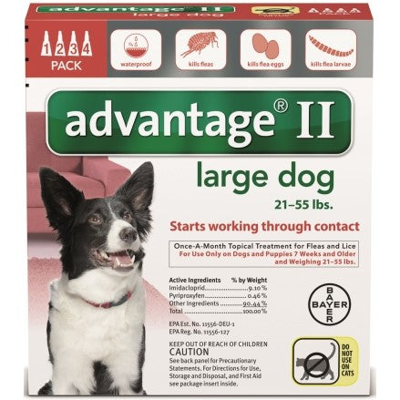 Advantage II Large Dog 21-55 lbs - 4 Month