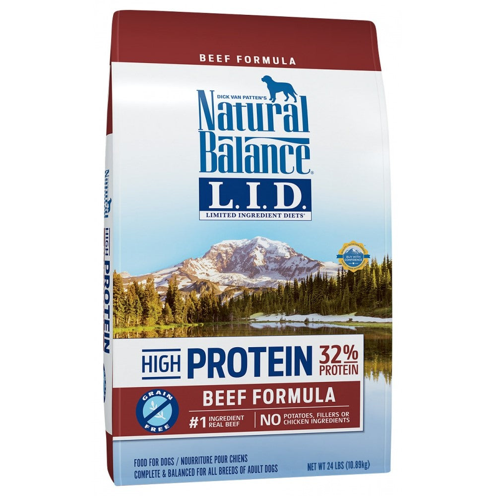 Natural Balance Grain Free Limited Ingredient Diets Beef Dry Dog Food 24-lb