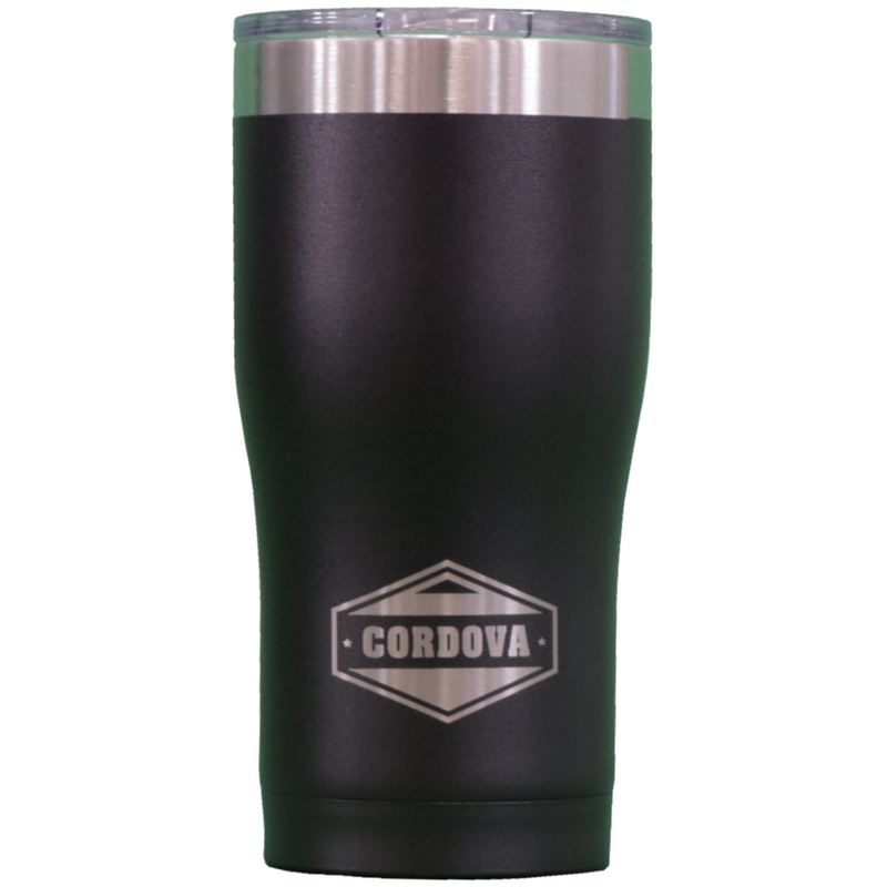 Cordova 20oz Powder Coated Tumbler Black