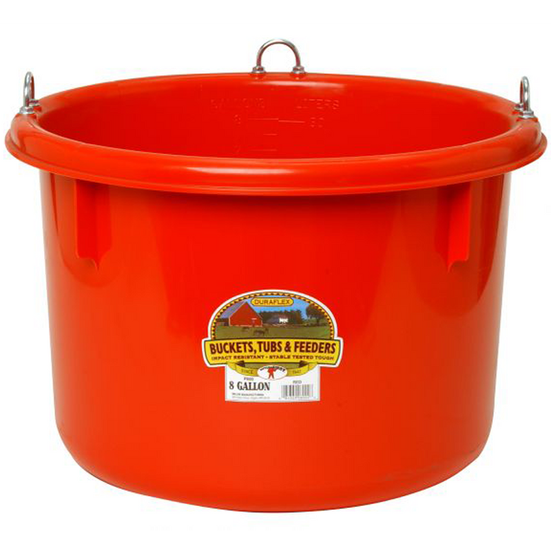 Race Horse Tub 8 Gal Red