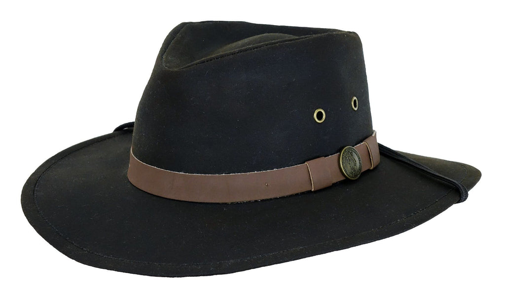Small Kodiak Oilskin Hat Brown