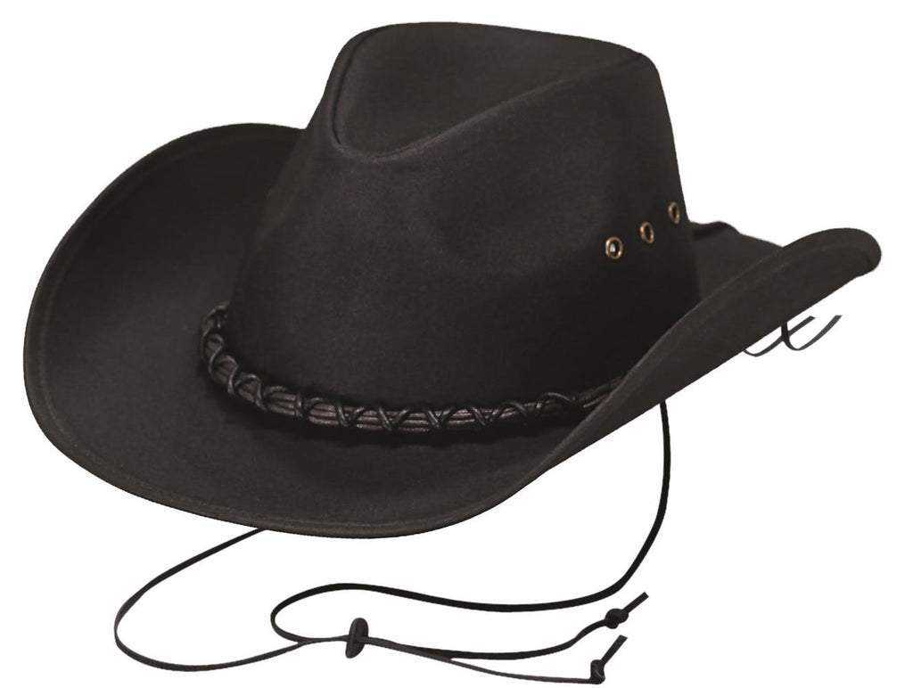 Small Bootlegger Oilskin Hat Black