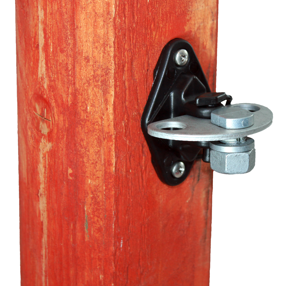 Wood Post 3-Way Gate Connector Insulator