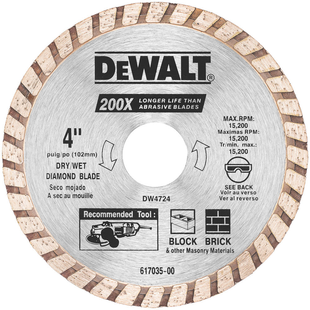 4 In Hi Performance Masonry Saw Blade