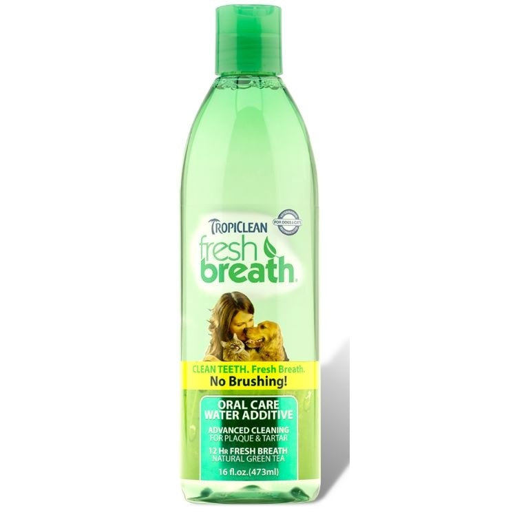 Tropiclean Fresh Breath Water Additive for Dogs and Cats 16-oz