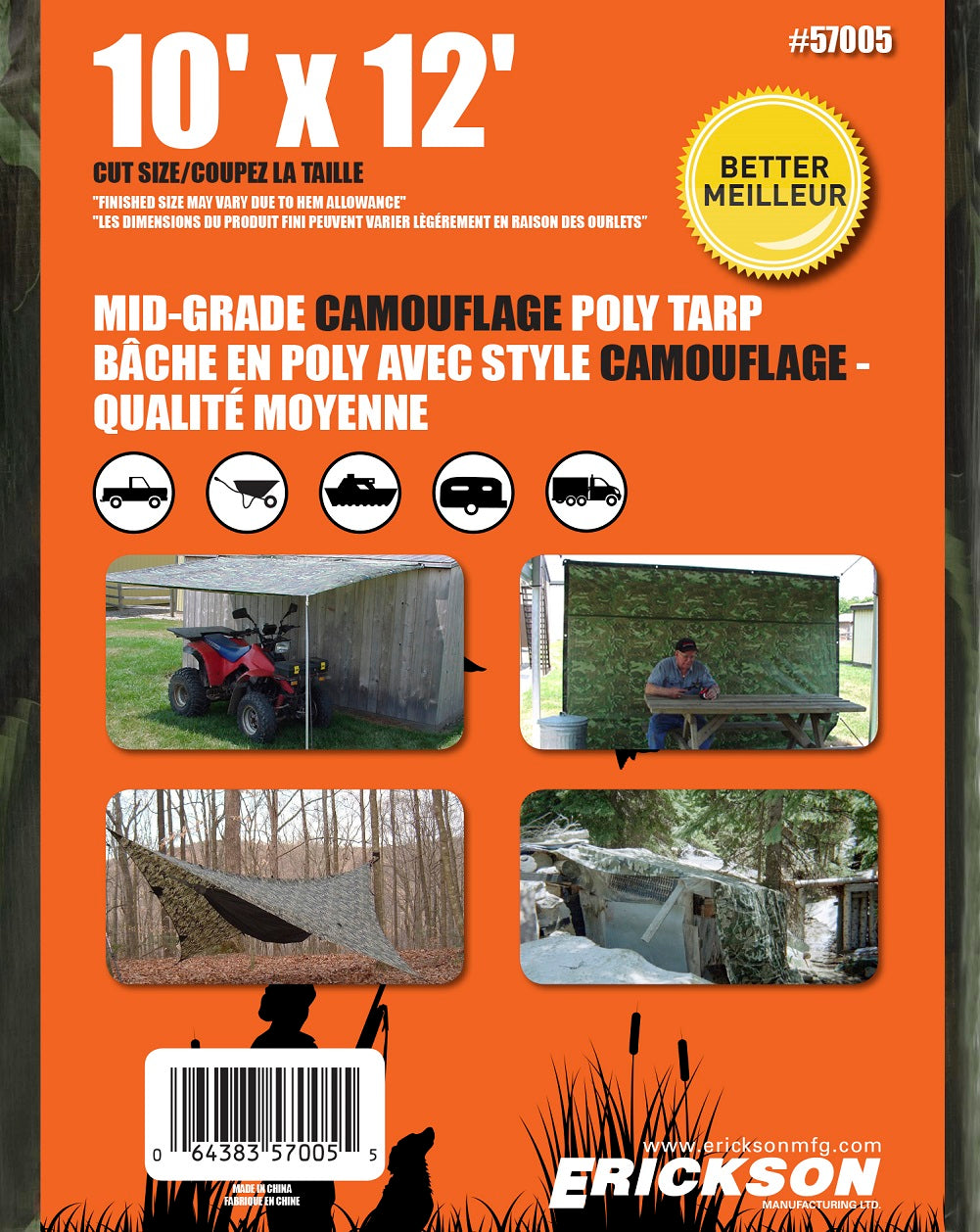 10 x 12 Medium-Duty Poly Tarp Camouflage