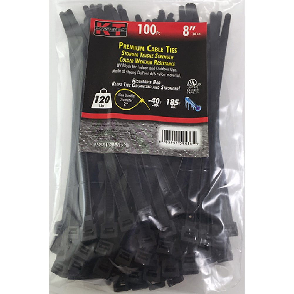 8 Inch Heavy Duty Cable Ties 100 Piece