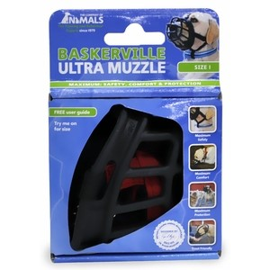 The Company of Animals Baskerville Ultra Muzzle for Dogs Dogs 10-15 lbs (Size 1)
