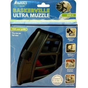 The Company of Animals Baskerville Ultra Muzzle for Dogs Dogs 80-150 lbs (Size 6)