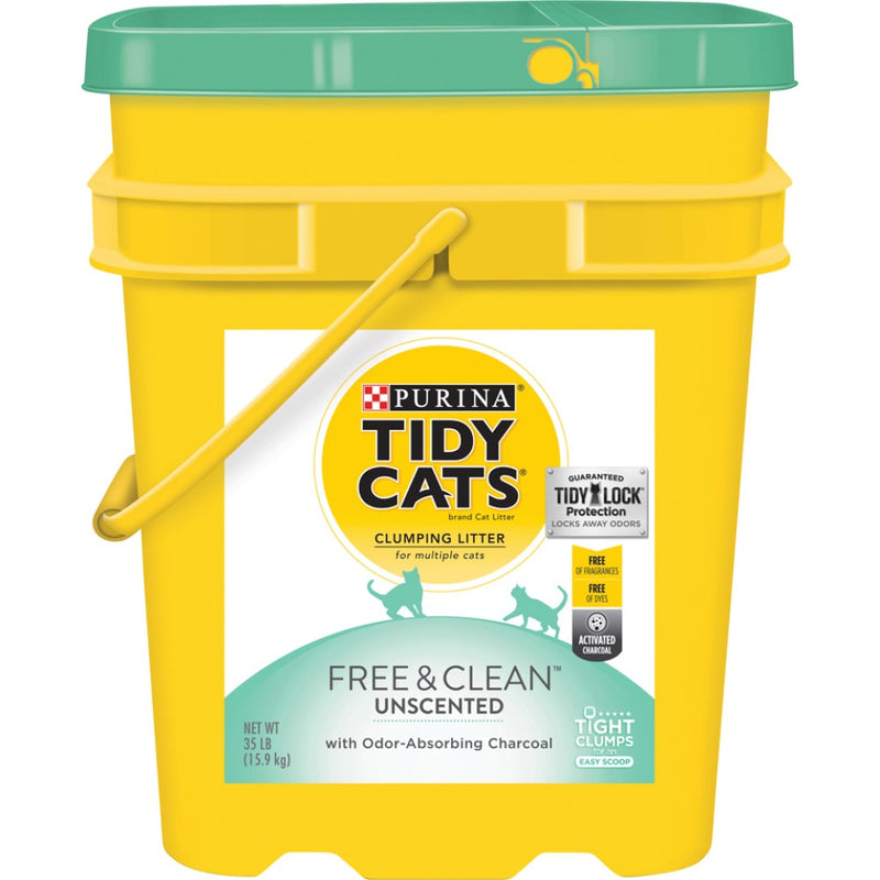 Tidy Cats Clumping Free & Clean™ Unscented Cat Litter 35lb Pail
