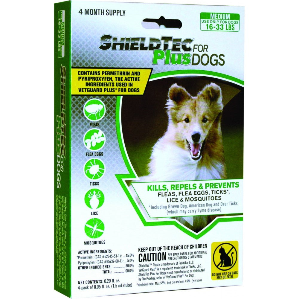 Promika ShieldTec Plus for Dogs 16-33 lbs, 4 Month Supply