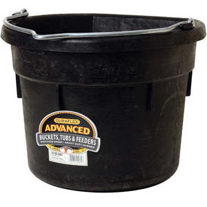 18 Qt Flat Back Bucket Black