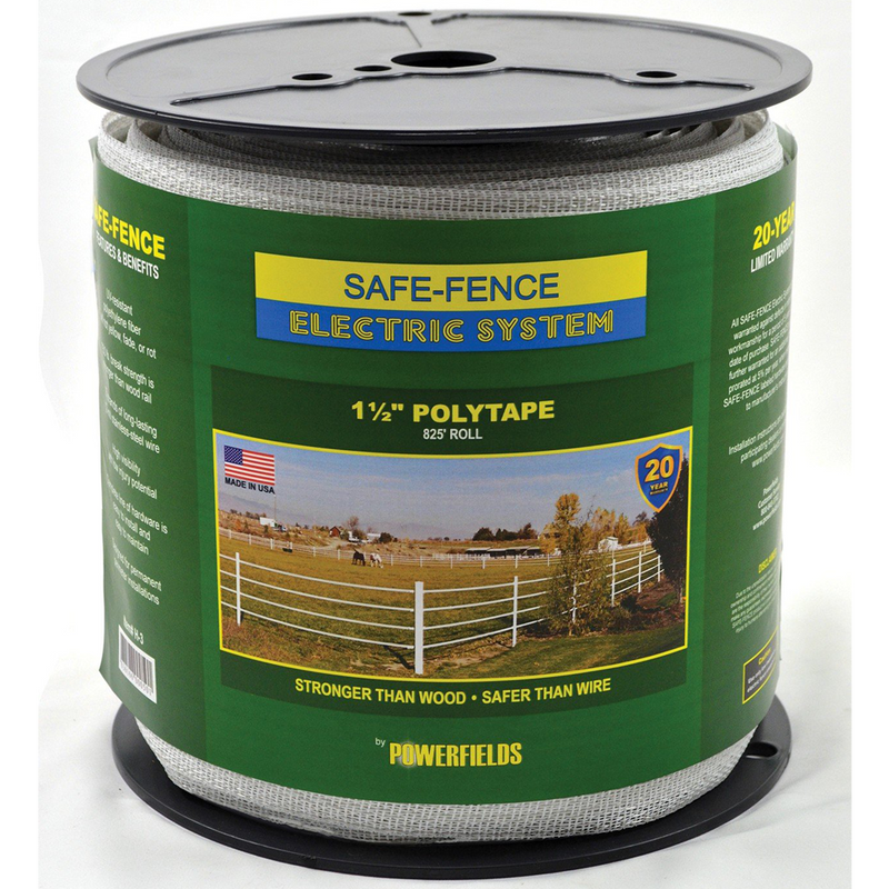 Safe-Fence 1-1/2 Inch Polytape 825 feet