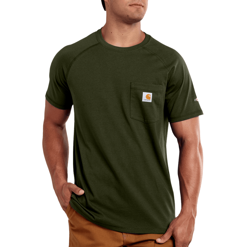 Medium Regular Delmont T-Shirt Moss