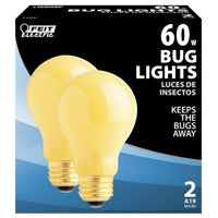 60w Yellow Bug Lightbulb 2pk
