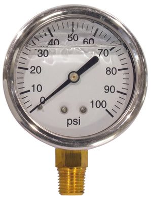 2 1/2 Face 0-100 Lq Fill Gauge