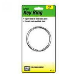1in Split Key Ring 2pk