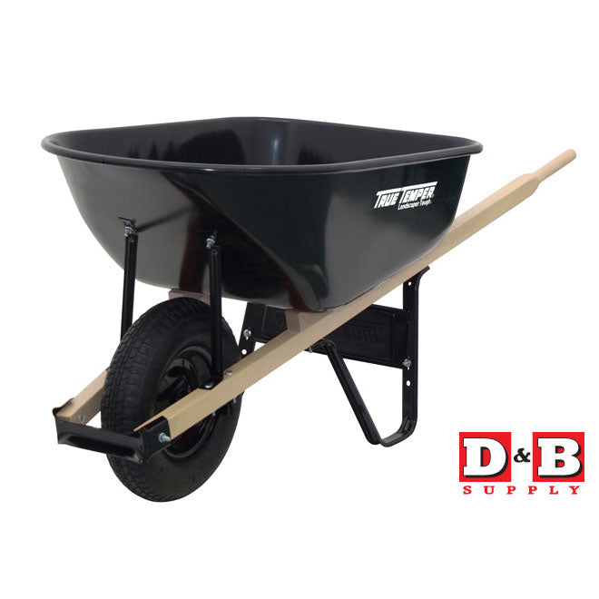 6 Cu Ft Steel Wheelbarrow