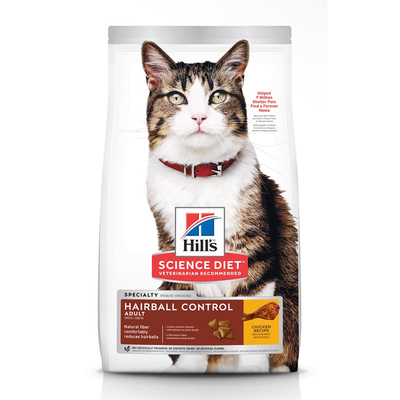 Science Diet Feline Adult Hairball Control 15.5lb
