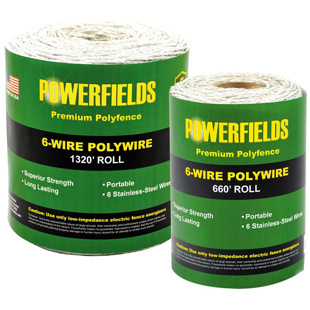 Powerfields 6-Strand Polywire 660 Feet