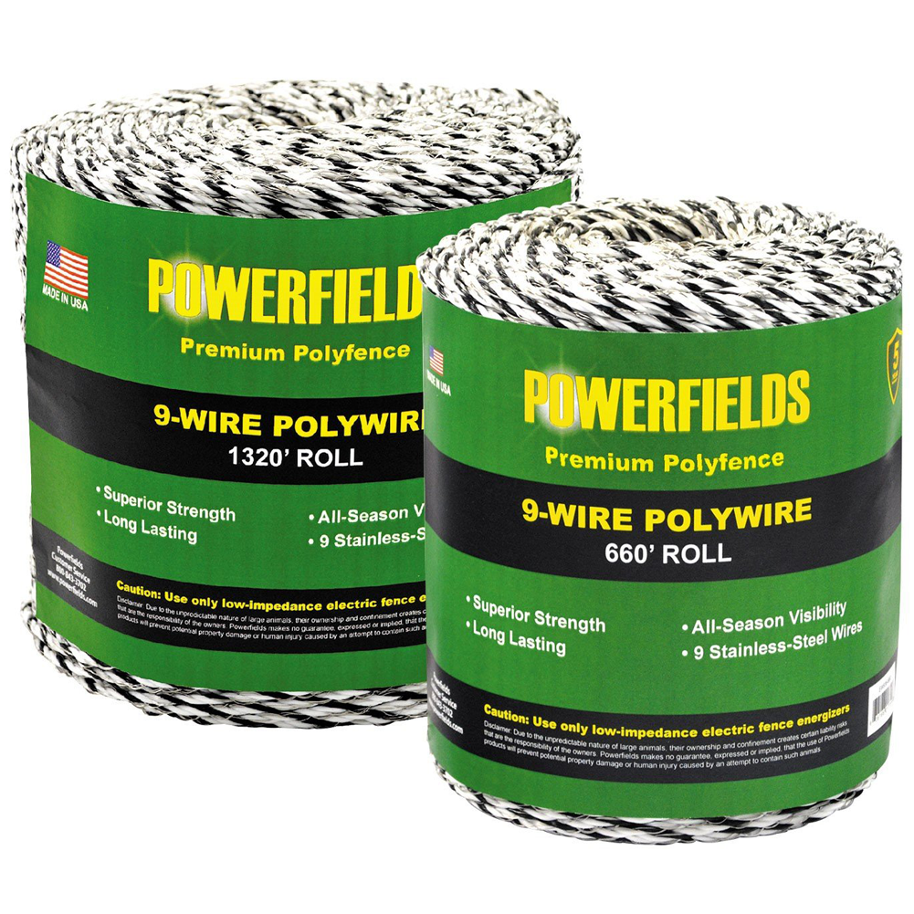 Powerfields 9-Strand Polywire 660 Feet