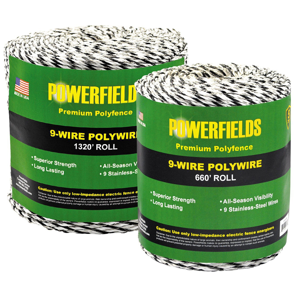 Powerfields 9-Strand Polywire 1320 Feet