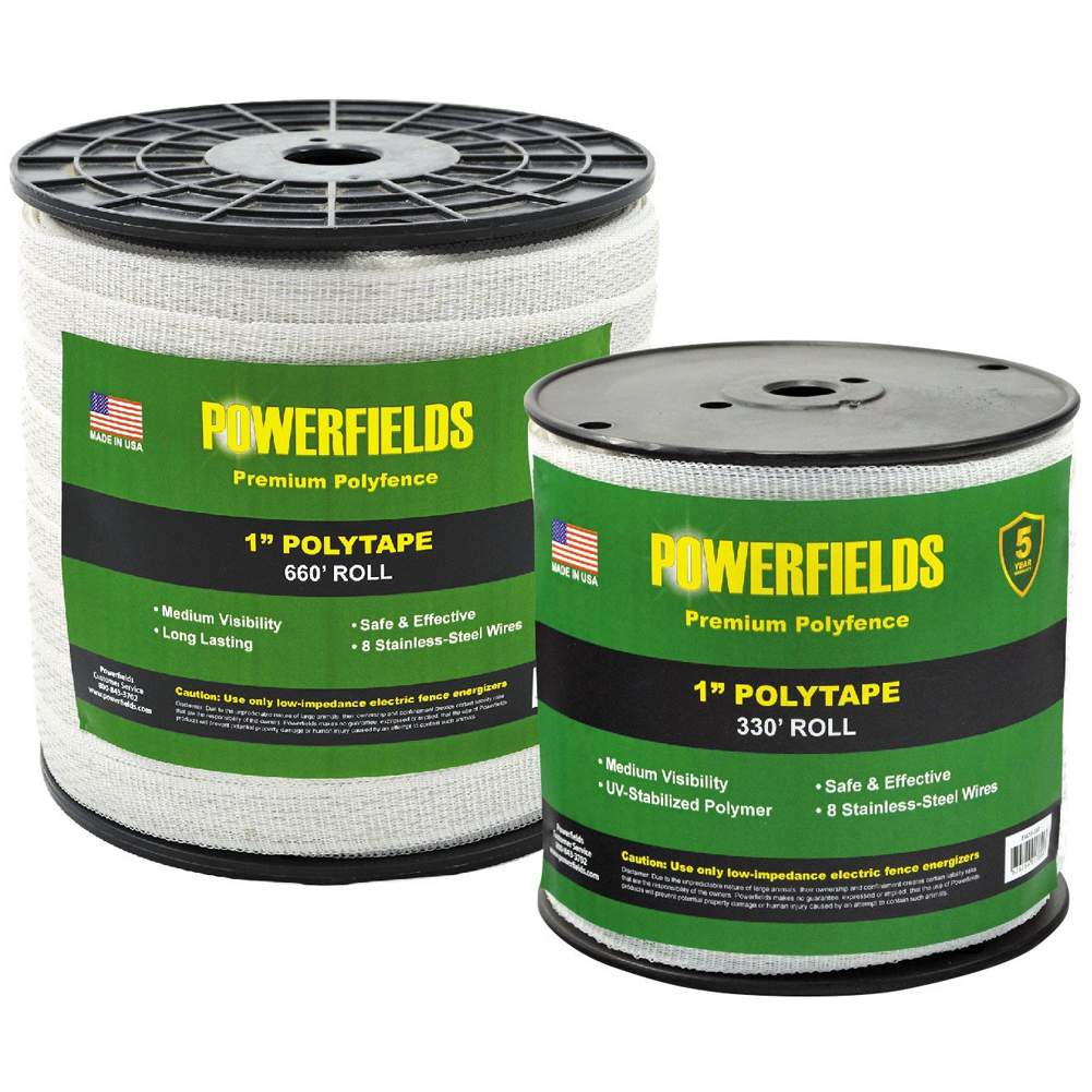Powerfields 1 Inch Polytape 660 Feet